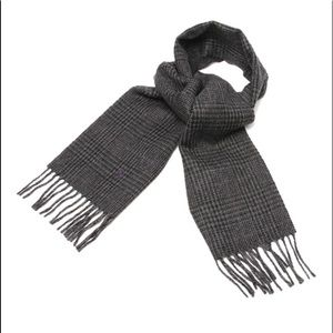 RALPH LAUREN scarf check reversible wool Italy,NWT